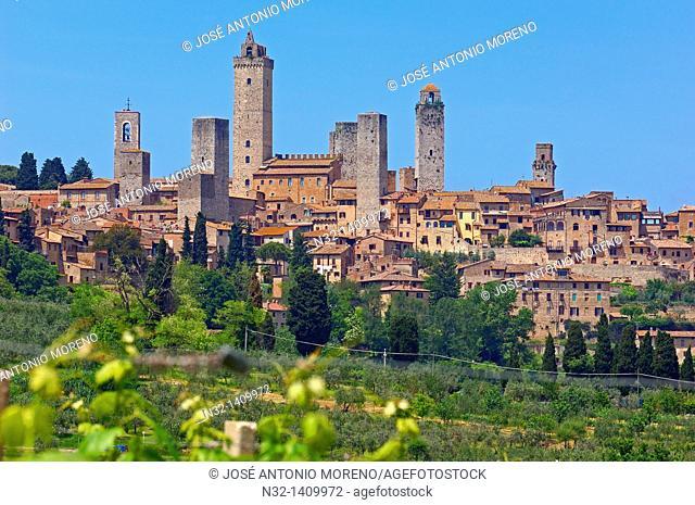San Gimignano, Tuscany, Italy, Siena Province, UNESCO World Heritage Site