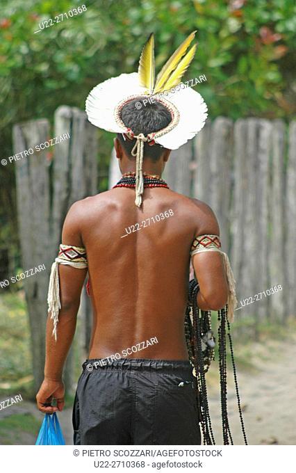 Caraiva, Bahia, Brazil: Pataxó native