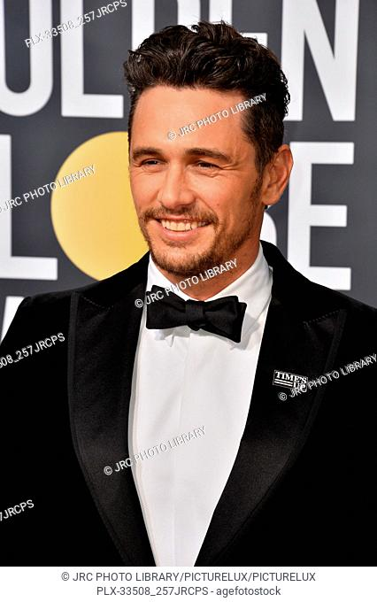 James Franco at the 75th Annual Golden Globe Awards at the Beverly Hilton Hotel, Beverly Hills, USA 07 Jan. 2018