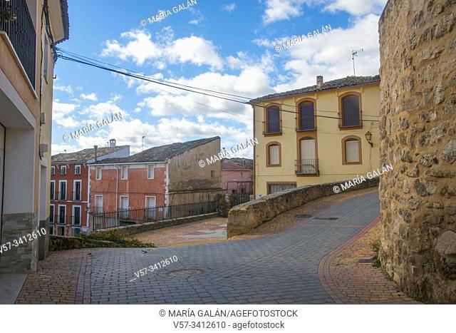 Street. Villaconejos de Trabaque, Cuenca province, Castilla La Mancha, Spain