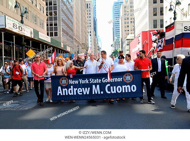 2016 National Puerto Rican Day Parade held in New York City Featuring: Andrew Cuomo Where: New York City, New York, United States When: 12 Jun 2016 Credit:...