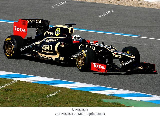 Lotus F1 Team E20 Launch, Jerez, Spain 6 February 2012, Kimi Raikkonen FIN, Team Lotus Renault GP - Lotus F1 Team E20 Launch