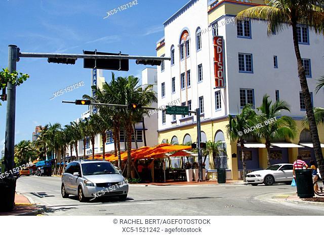 Art-deco district, Miami Beach, Miami, Florida, United States