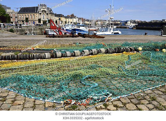 Port de peche, bassin Duquesne, Dieppe, departement de Seine-Maritime, region Normandie, France/fishing port, dock Duquesne, Dieppe, Seine-Maritime department