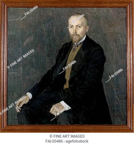 Portrait of the artist Nicholas Roerich (1874-1947). Golovin, Alexander Yakovlevich (1863-1930). Pastel on canvas. Realism. 1907. Russia