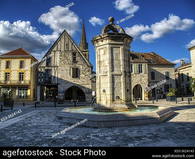 Place Gambetta, Eymet, Dordogne Department, Nouvelle Aquitaine, France