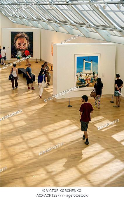Contemporary art display at Metropolitan museum, New York