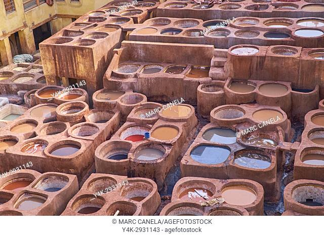 Africa, Morocco, fes, tanneries souck