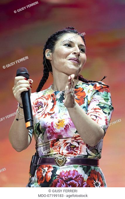 Giusy Ferreri during the concert for the 20 years of Lo Zoo di 105 at the Hippodrome. Milan (Italy), July 8th, 2019