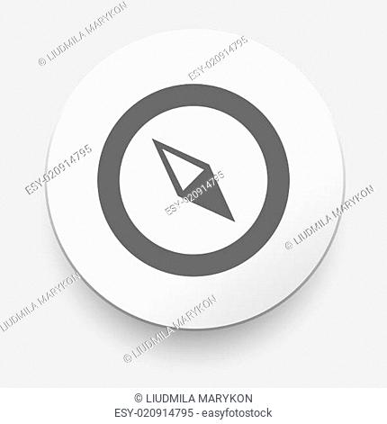 Compass vector Icon. navigation