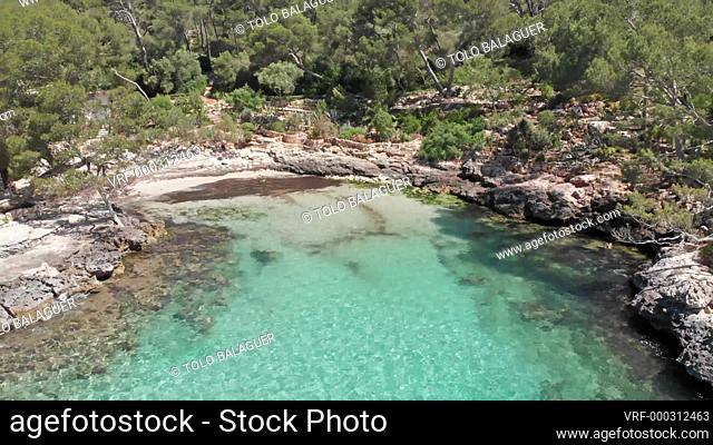 cala Mitjana beach, Santanyi, mallorca, Spain