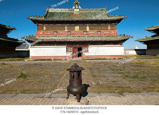temple at Kharakorim Monastery in Central Mongolia