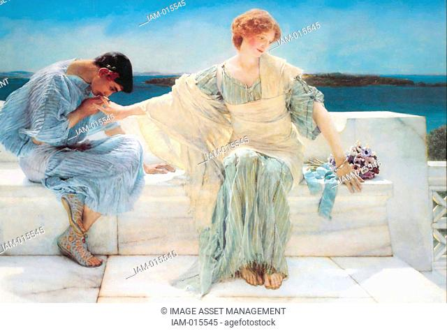 A painting of Pyramus and Thisbe entitled Ask Me No More 1906 by Sir Lawrence Alma-Tadema 1836-1912