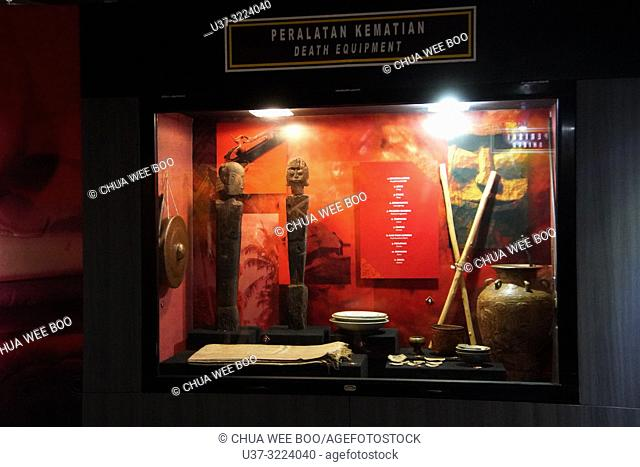 A show case of Death Equipment in the Museum Kalimantan Barat, Pontianak, Indonesia