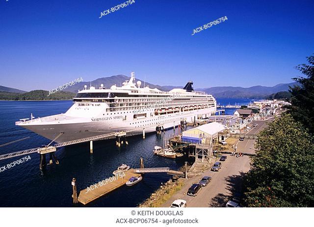 Cruise Ship docked on the inside passage, British Columbia, Canada