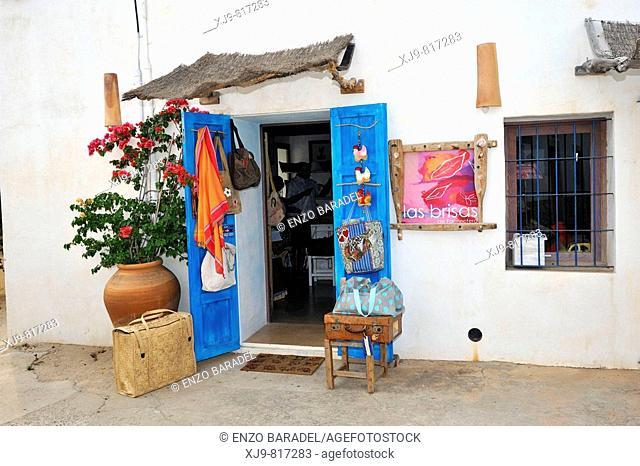Souvenir shop in Ibiza, Spain
