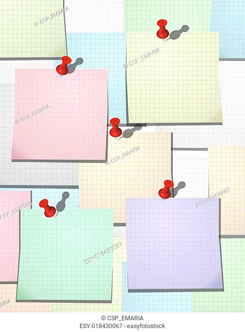 Squared paper sheets background. Vector