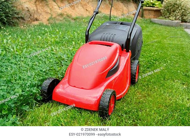 Lawn mower lawn Stock Photos and Images   age fotostock