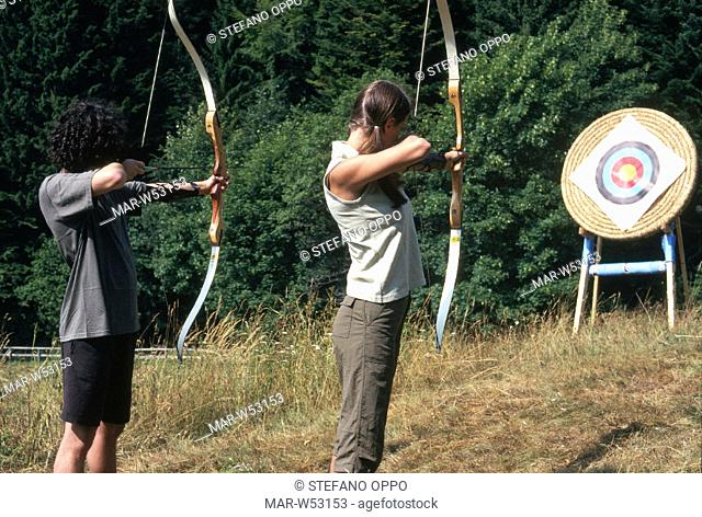 young people, archery