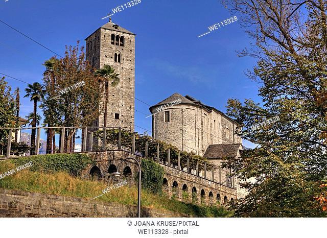 Church of San Quirico in Minusio, Locarno, Ticino, Switzerland