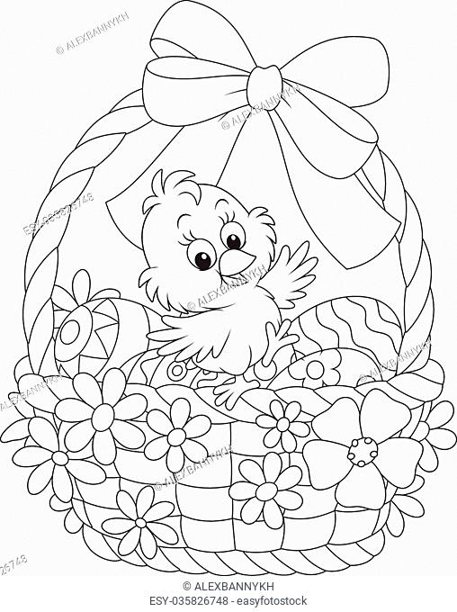 Chick coloring book vector Stock Photos and Images ...