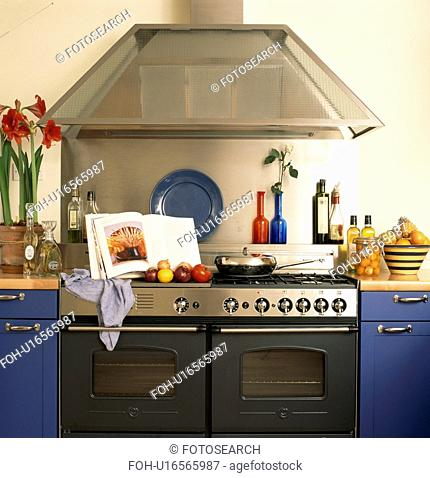 Range oven in modern kitchen with majuve units