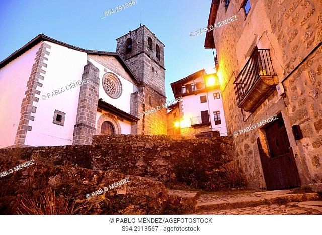 Parish church of Our Lady of Asuncion in Candelario, Salamanca, Spain