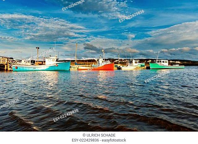 Fishing boat during sunset
