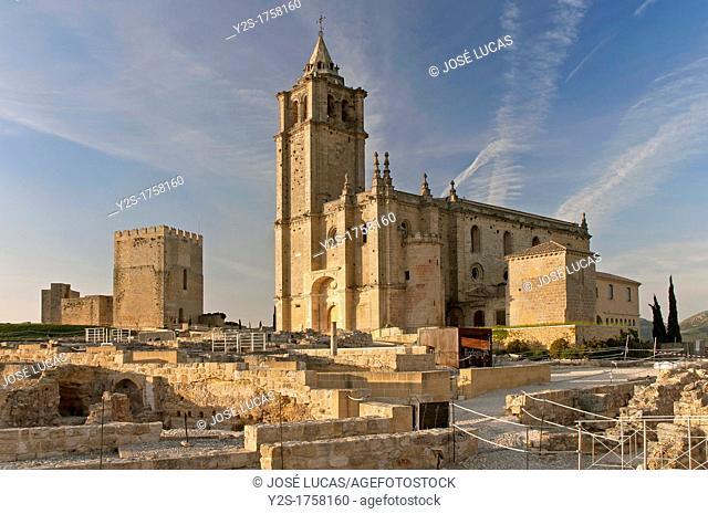 Alcazaba and Mayor Abbey Church, La Mota Fortress, Alcala la Real, Jaen-province, Spain