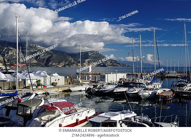 Saint Jean Cap Ferrat, Picturesque fishing village , ALpes Maritimes, Provence Alpes Cote d'Azur, France, Europe
