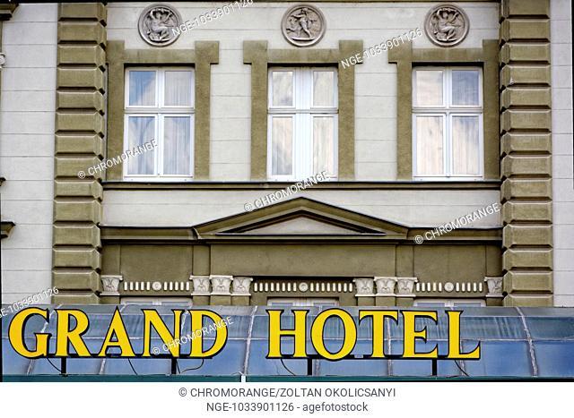 Grand Hotel, yellow inscription