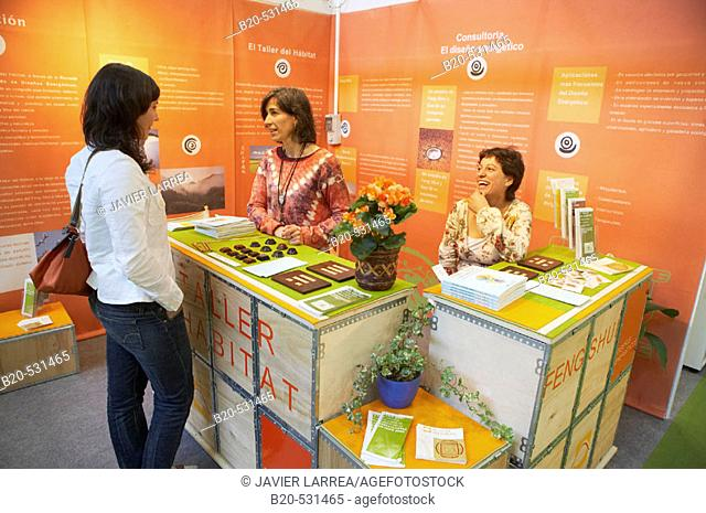 Bioterra, fair of organic products, ecological management and the environment, FICOBA, Basque Coast International Fair. Irun, Gipuzkoa, Basque Country, Spain