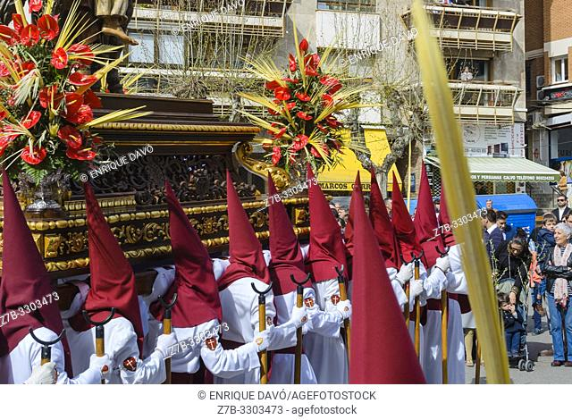 Cuenca city, Spain.14 th April, 2019. Parade procession in Palm Sunday Hosanna on 14 th April 2019