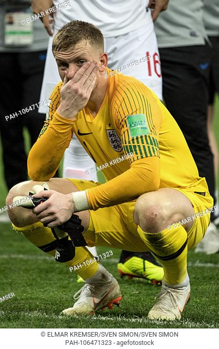goalie Jordan PICKFORD (ENG) is disappointed, disappointed, disappointed, disappointed, sad, frustrated, frustrated, late-rate, full figure, upright