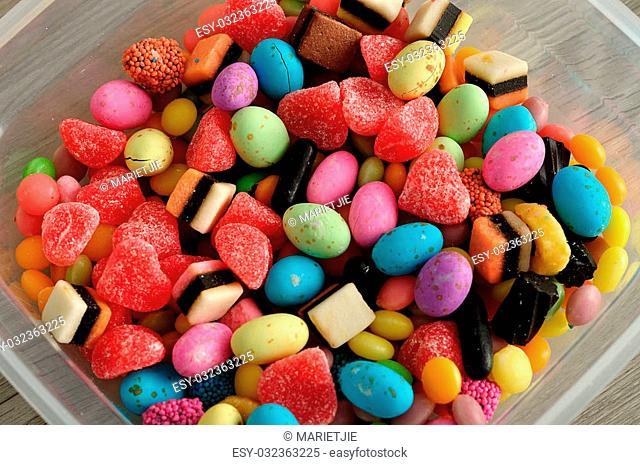 A variety of colorful candy