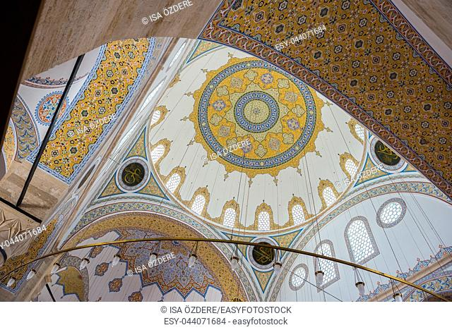 Interior detailed view of Selimiye Mosque in Konya,Turkey. 28 August 2017