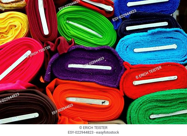 Bunte Stoffe Stock Photos And Images Age Fotostock
