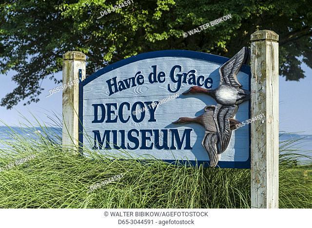 USA, Maryland, Havre de Grace, Havre de Grace Decoy Museum, exterior