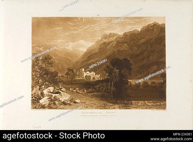 Bonneville, plate 64 from Liber Studiorum - published January 1, 1816 - Joseph Mallord William Turner (English, 1775-1851) Engraved by H