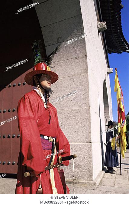 Korea, Seoul, Kwanghwamun Gate, Detail, watches, , Asia, Eastern Asia, South Korea, capital, Kyongbokkung Palace, Gyeongbokgung Palace, palace, entrance