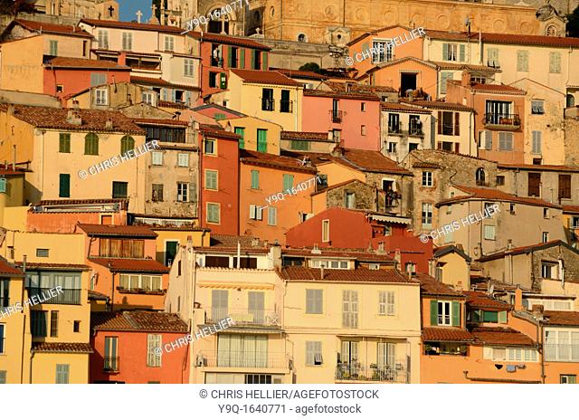 Mediterranean Houses Overlooking the Port in the Old Town Menton France