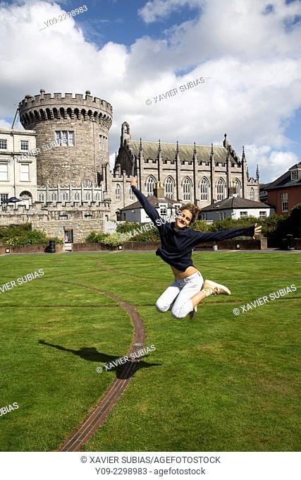 Girl, Record Tower, Dublin, Leinster, Ireland