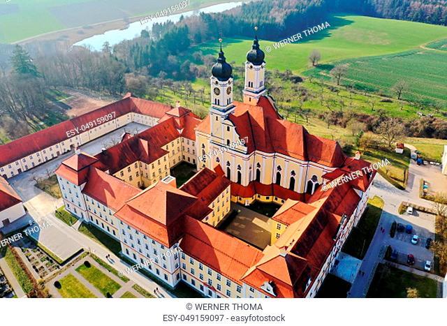 Monastery Roggenburg from above