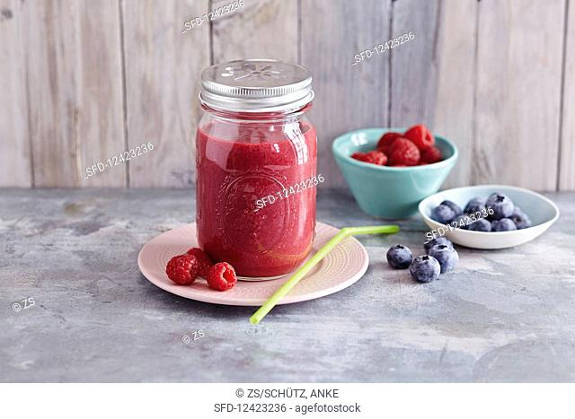 A red berry smoothie