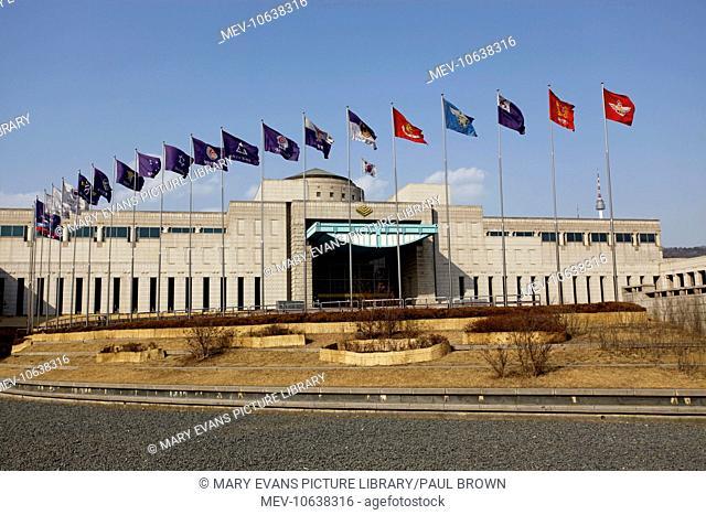 The War Memorial of Korea remembering the Korean War in Seoul, South Korea