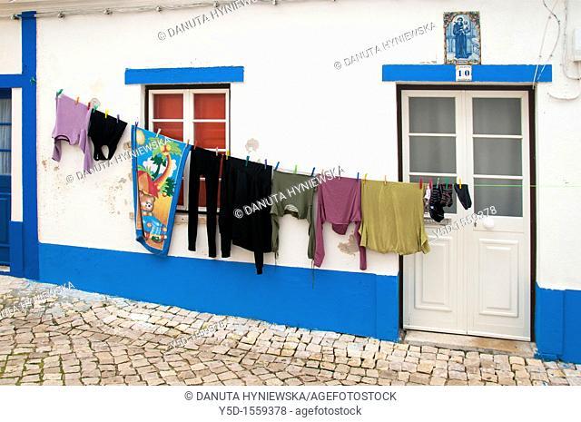 portuguese street scene, Ericeira, Portugal