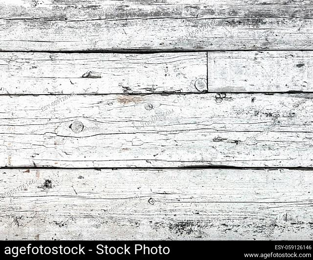 Wooden grunge urban texture. Abstract white surface and rough dirty wall background with empty template. Distress and grunge effect concept