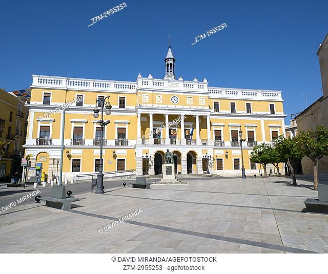 Town Hall. City of Badajoz. Extremadura. Spain