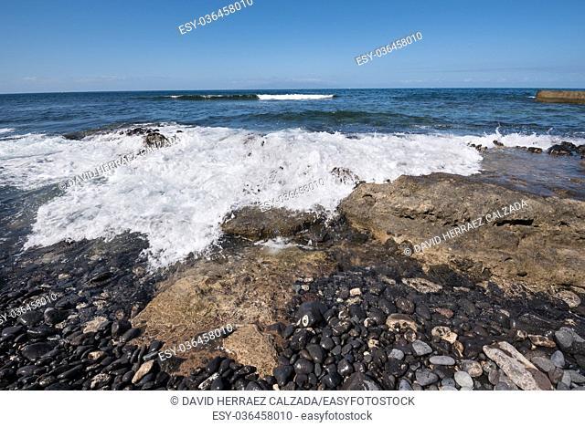 Las Americas coastline in south Tenerife island, Canary islands, Spain