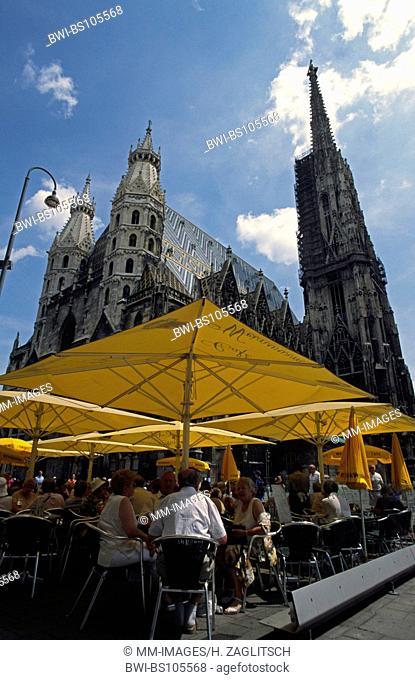 Stephansplatz with St. Stephen's Cathedral, Austria, Vienna